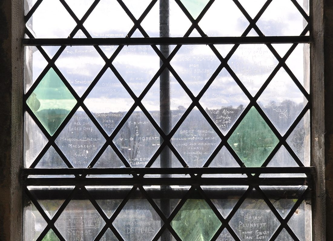 Salisbury Cathedral etched glass