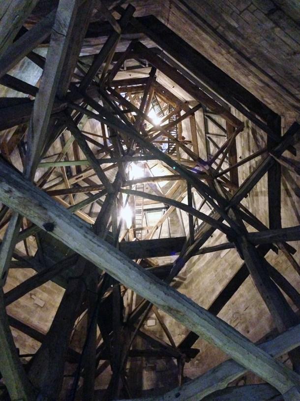 Salisbury Cathedral interior of spire