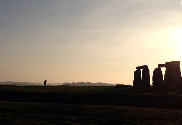 stonehenge at dusk photo by Kate Borson