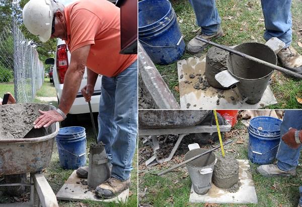 KHouse Modern concrete slump test