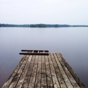 Wisconsin Dock in the rain