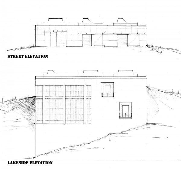 The Cube House by Bob Borson - Exterior Elevations