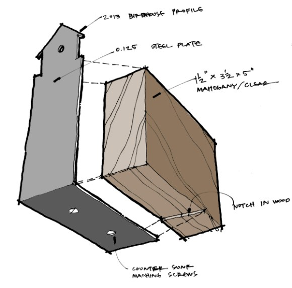 Life of an Architect Playhouse Design Competition Trophy - Concept Sketch