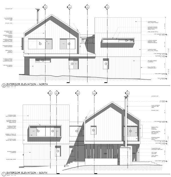 Modern Cabin Elevations Drawings Bob Borson