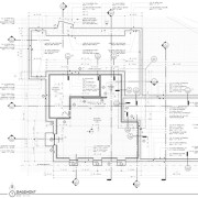 Modern House construction drawings