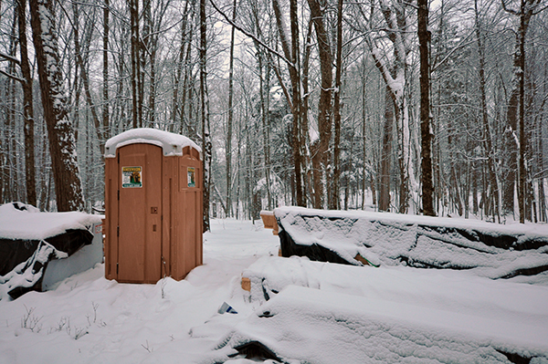 PortAPotty in the snow