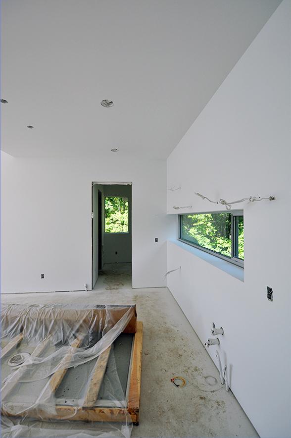 Kitchen looking towards pantry