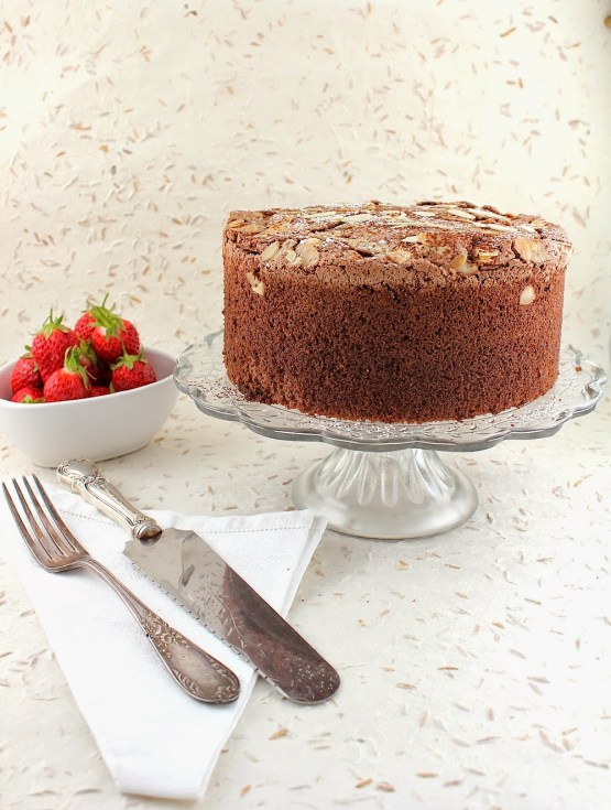 Cocoa Espresso Almond Passover Sponge Cake  I