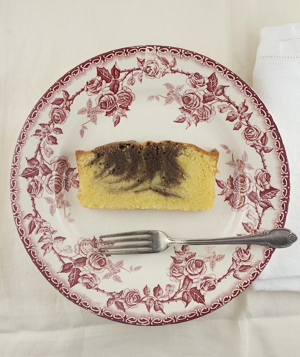 Orange Chocolate Marble Pound Cake |