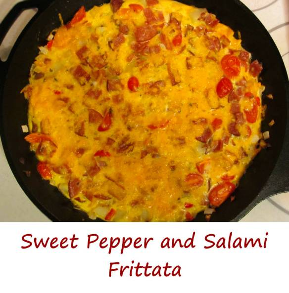 Sweet Pepper and Salami Frittata - Life's A TomatoLife's A Tomato