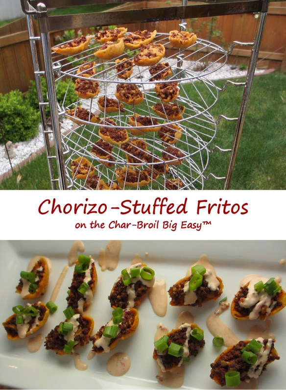Chorizo-Stuffed Fritos on the Char-Broil Big Easy