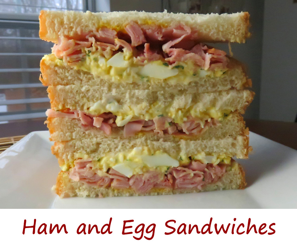 Witching Airy Egg Ham Egg Sandwiches A A Tomato I Chopped Ham To Give It More A Shaved Ham A Little Lighterthan Just Sliced I Think It Went Better nice food Egg Sandwich Recipe