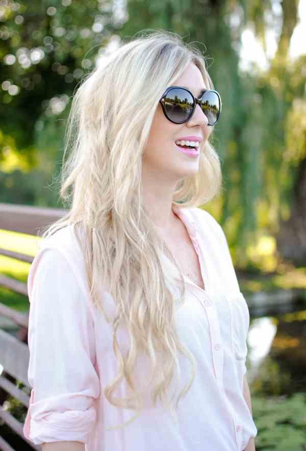 bellami ash blonde hair, fishtail braid