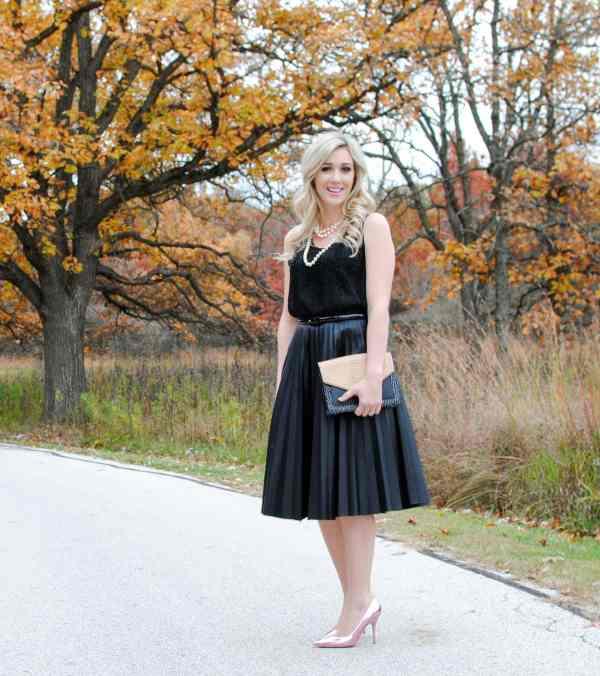 Topshop Pleat Midi Skirt