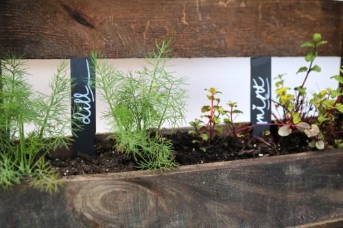Medium Of Diy Pallet Herb Garden