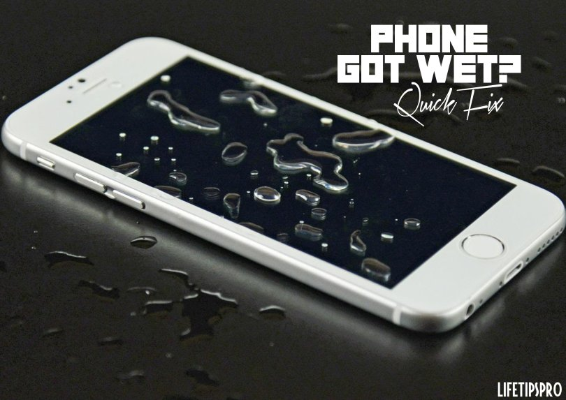 how to fix water damaged phone with alcohol