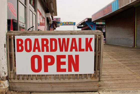 boardwalk open sign jersey shore