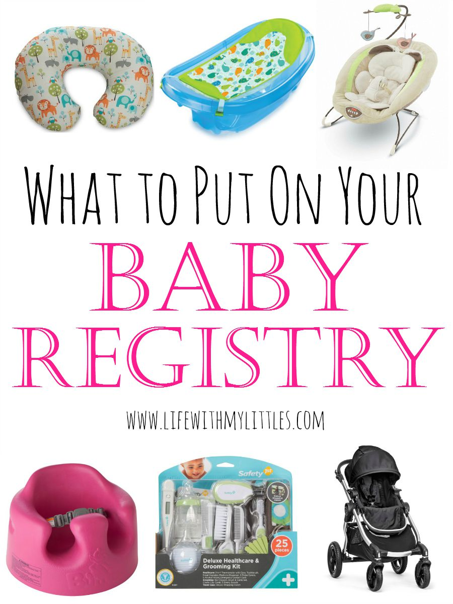 What to put on your baby registry life with my littles for Top things to register for wedding