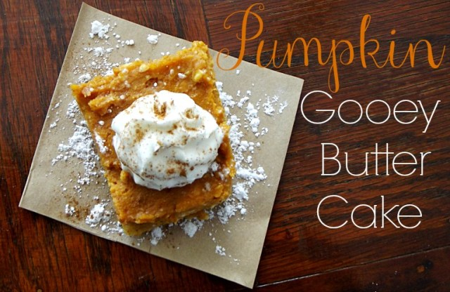 Pumpkin Gooey Butter Cake {Life with the Crust Cut Off}