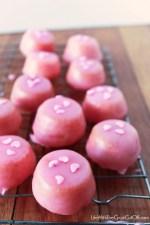 Glazed Strawberry Cake Bites