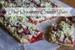 Pear Strawberry Crumble Bars~Moira