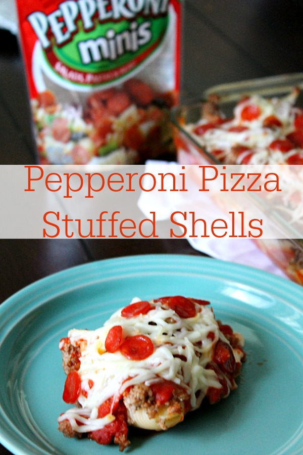 Pepperoni Pizza Stuffed Shells Recipe by Life with the Crust Cut Off