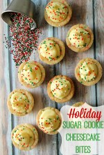 Holiday Sugar Cookie Cheesecake Bites