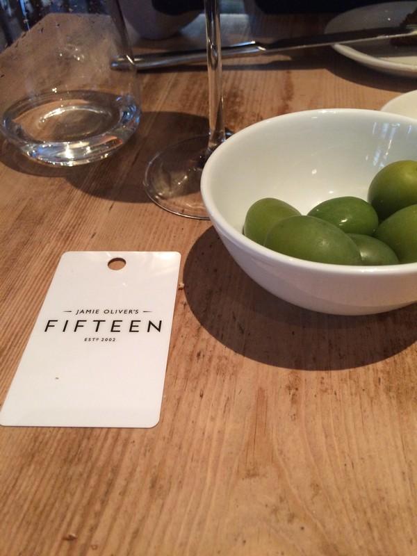 Comer em Londres - Jamie Oliver's Fifteen - Comida