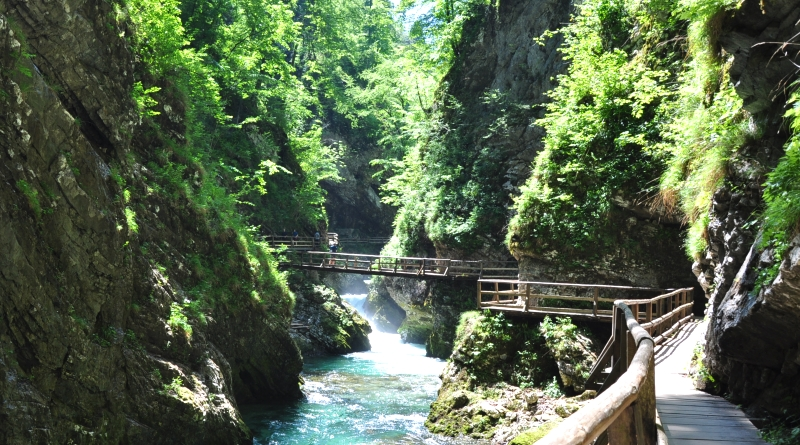 Vintgar Gorge na Eslovênia