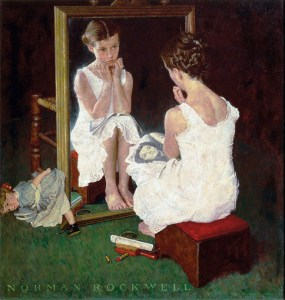Norman-Rockwell-Girl-at-Mirror-1954