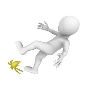 man slip banana skin