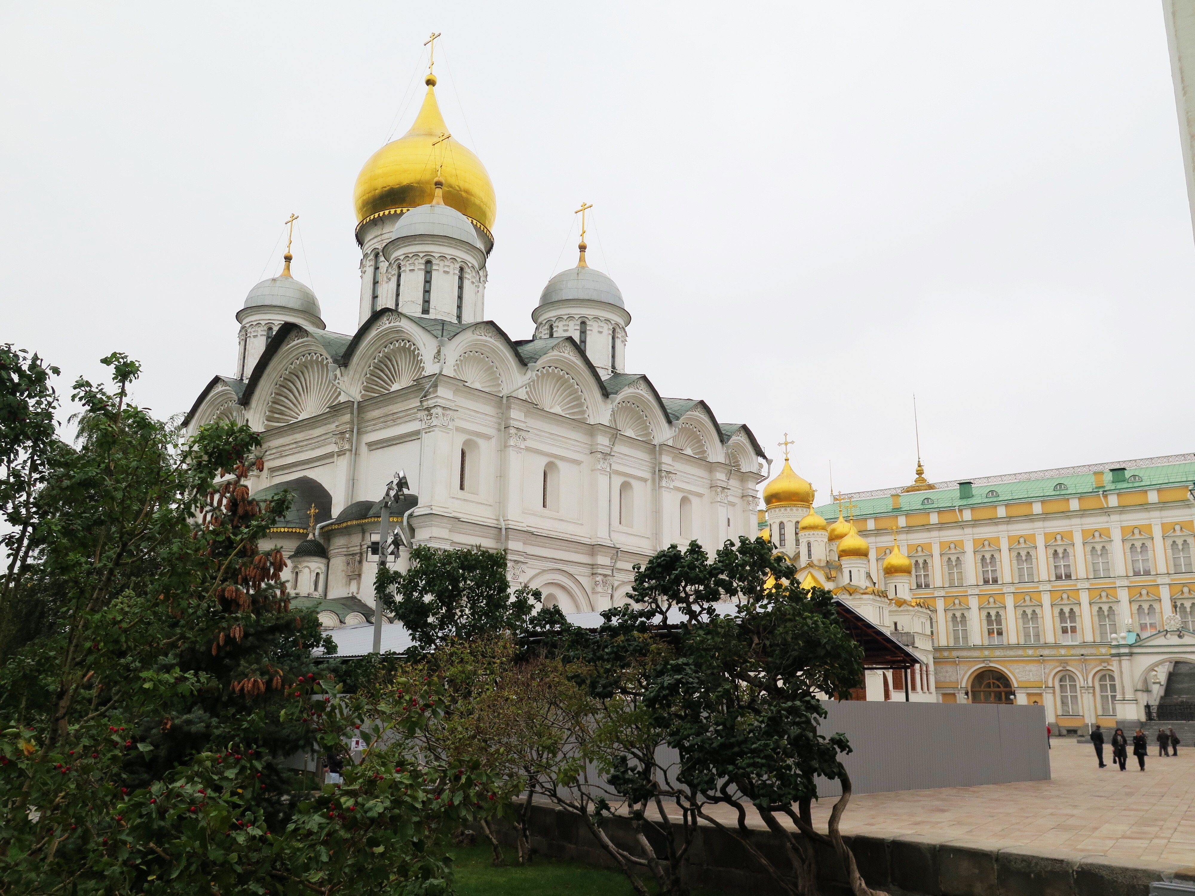 One of the churches inside the Kremlin complex. I could look up which one it is, but I'm feeling lazy.