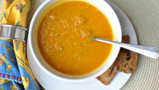 Chatty, with some Butternut Apple Quinoa Soup for Lent!