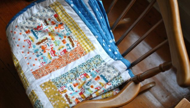 A quilt for a little boy.