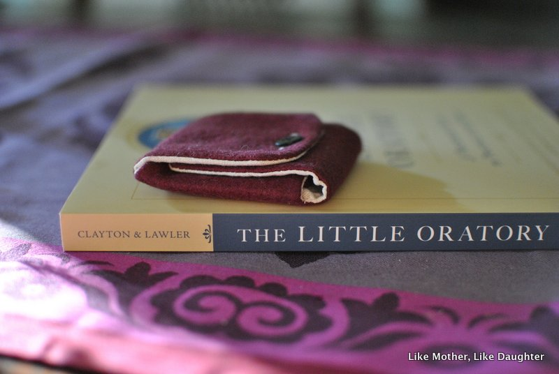 A giveaway of a pocket oratory and a book with your {bits & pieces}!