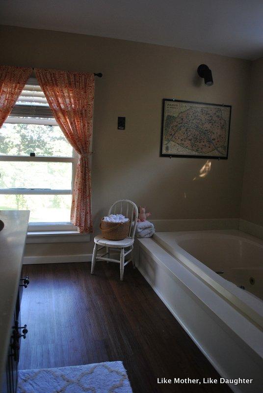 Almond bathroom fixtures: a make-do bathroom makeover!
