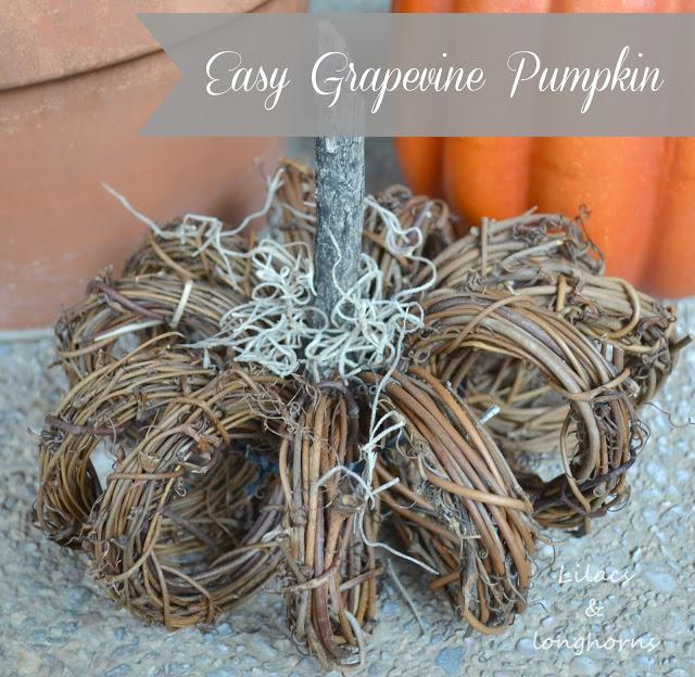 Easy Grapevine Wreath Pumpkin