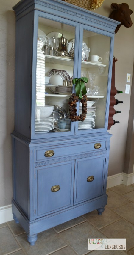My china hutch painted in ASCP Old Violet