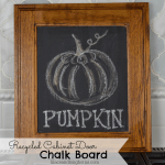 recycled cabinet door chalk board