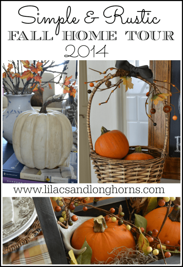 simple and rustic fall home tour