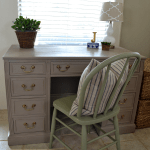 desk makeover with Annie Sloan chalk paint
