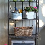 outdoor metal shelves