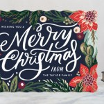Merry Christmas card from Minted.com / Lilacs and Longhorns