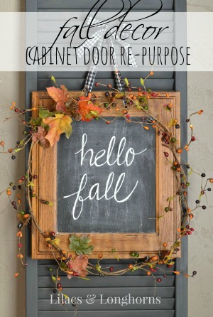fall door decor chalkboard wreath