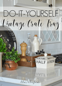 do it yourself vintage crate tray