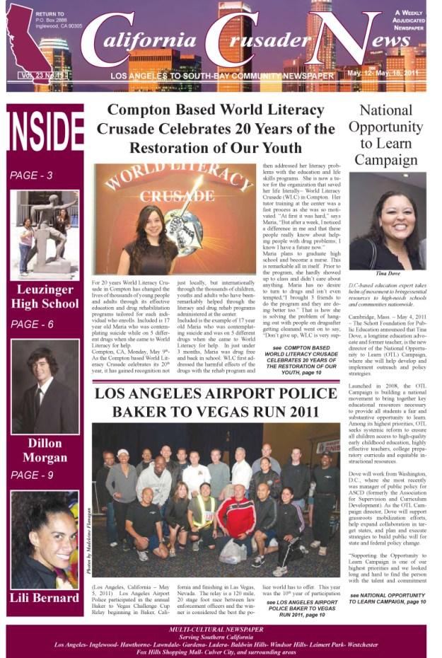 Lili Bernard in California Crusader News 2011