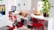 Geteilte Arbeits- und Spielplätze für Geschwister (© IKEA)