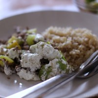 From The Farm Blog Hop & Rice with Sour Cream Zucchini Sauce
