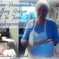 Mom's Homemade Stuffing Recipe - Just In Time For Thanksgiving!