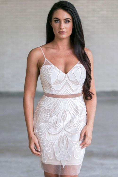 Medium Of White Cocktail Dresses